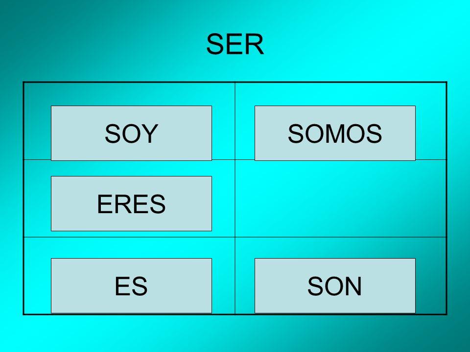 SER SOYSOMOS ERES ESSON