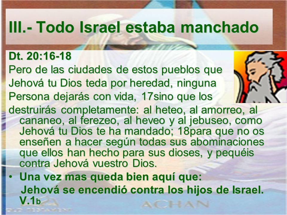 Dt. 20:16-18 Pero de las ciudades de estos pueblos que Jehová tu Dios teda por heredad, ninguna Persona dejarás con vida, 17sino que los destruirás co