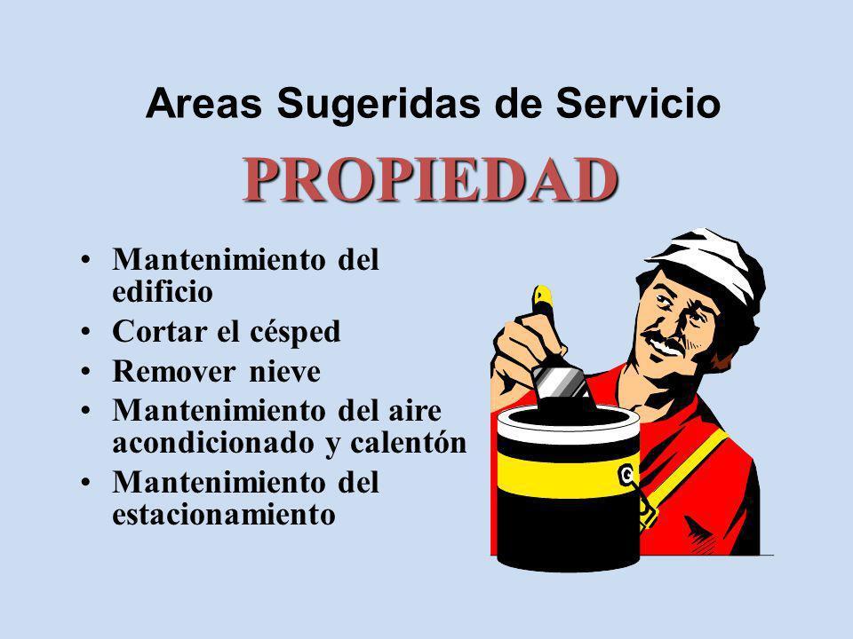 Areas Sugeridas de Servicio Contar la ofrenda Banco Pagar recibos FONDOS