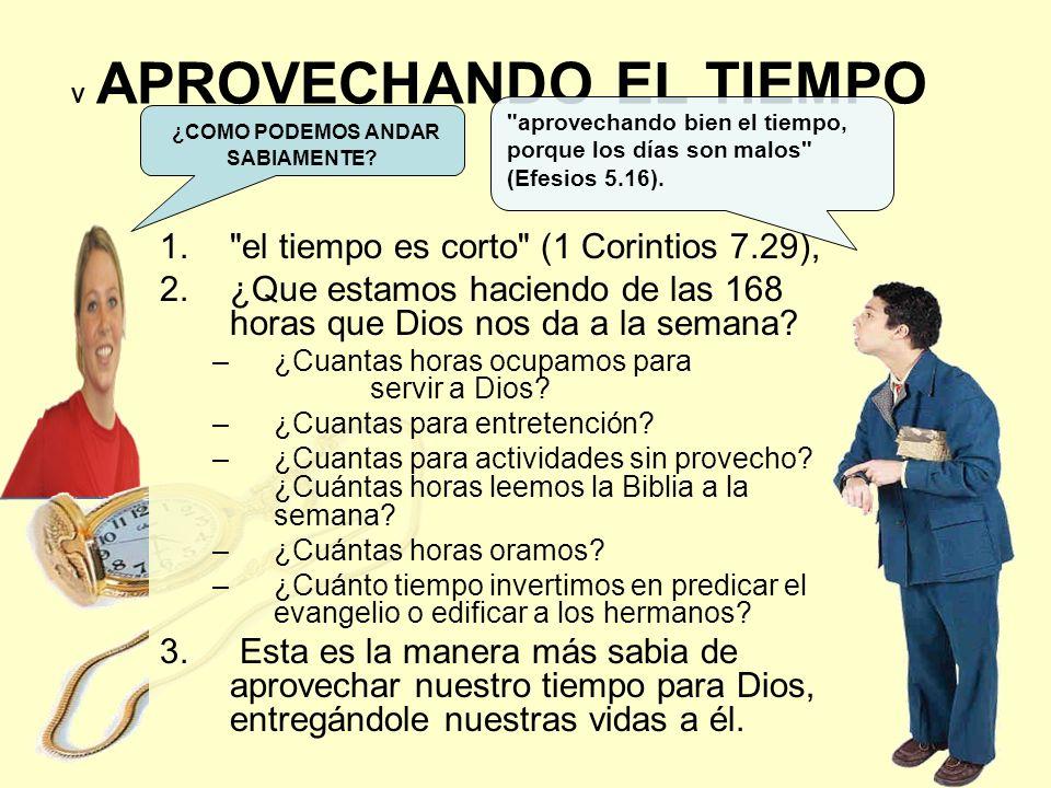 V APROVECHANDO EL TIEMPO 1.