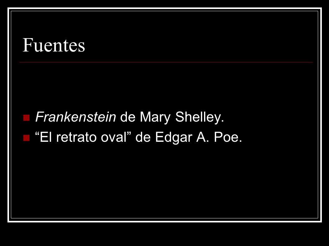 Fuentes Frankenstein de Mary Shelley. El retrato oval de Edgar A. Poe.