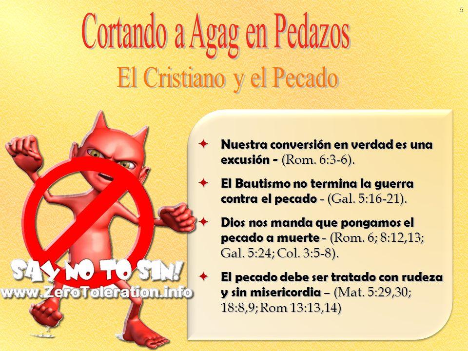 Nuestra conversión en verdad es una excusión - (Rom. 6:3-6). Nuestra conversión en verdad es una excusión - (Rom. 6:3-6). El Bautismo no termina la gu