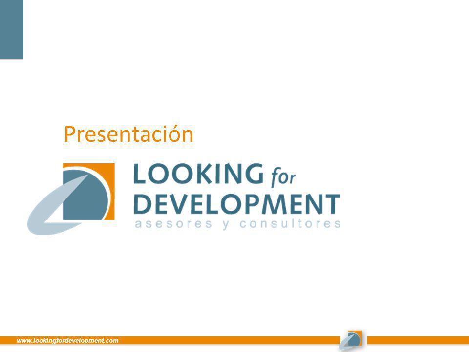 www.lookingfordevelopment.com Presentación