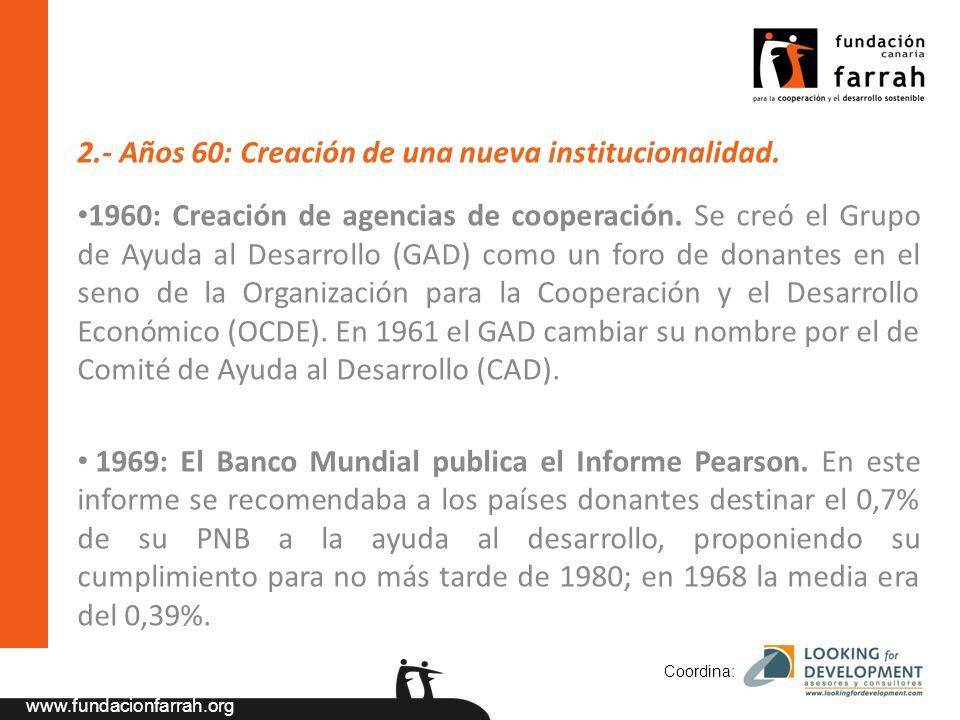 www.fundacionfarrah.org 2.- Años 60: Creación de una nueva institucionalidad.