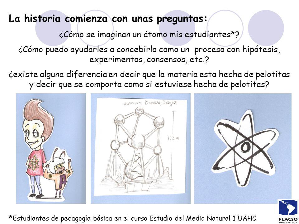 La historia comienza con unas preguntas: ¿Cómo se imaginan un átomo mis estudiantes*? ¿Cómo puedo ayudarles a concebirlo como un proceso con hipótesis