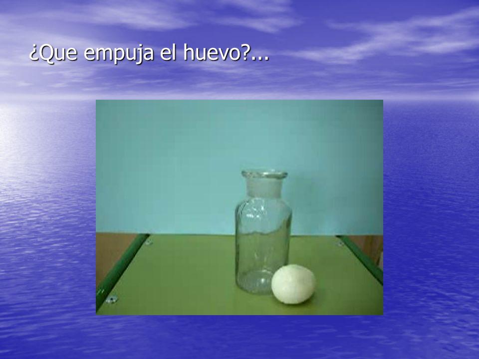 ¿Que empuja el huevo?...