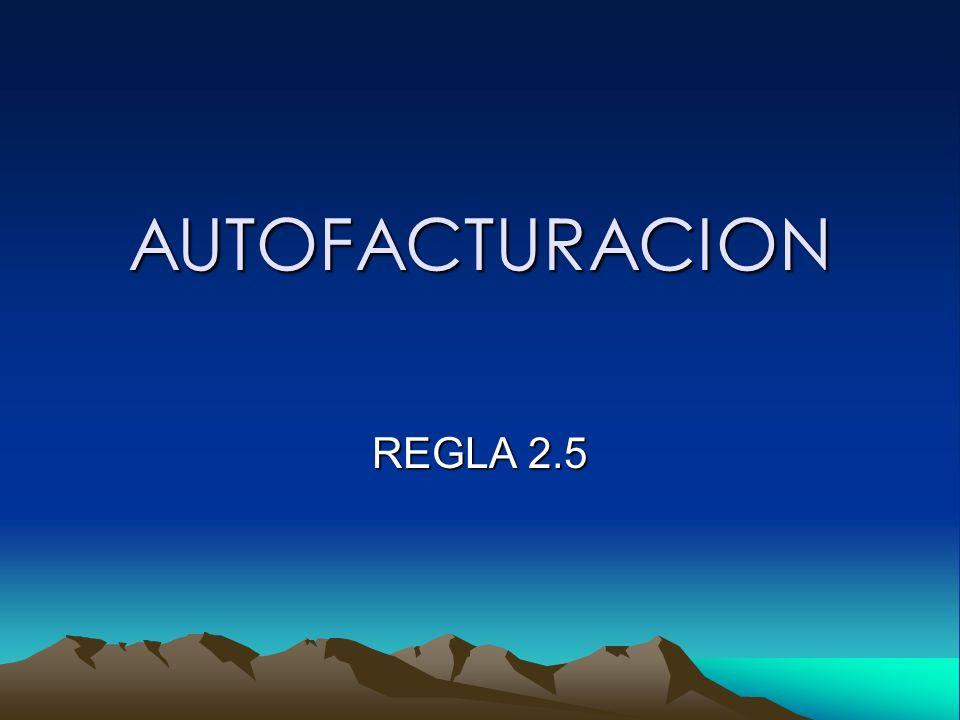AUTOFACTURACION REGLA 2.5