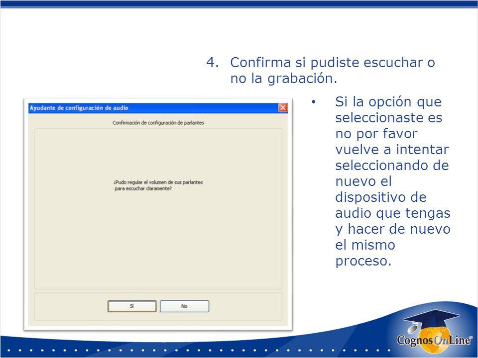 5.Selecciona la entrada de audio (micrófono) y darle clic en aceptar.