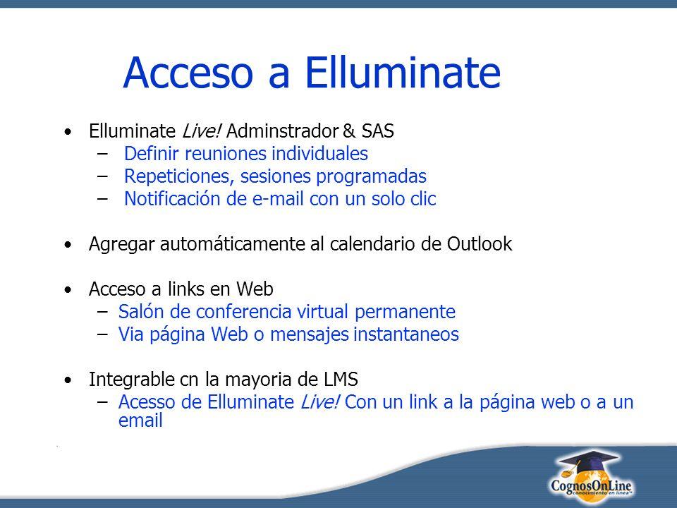 Acceso a Elluminate Elluminate Live.