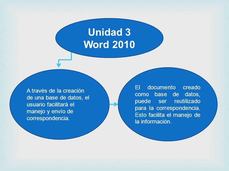 A través de la creación de una base de datos, el usuario facilitará el manejo y envío de correspondencia. El documento creado como base de datos, pued