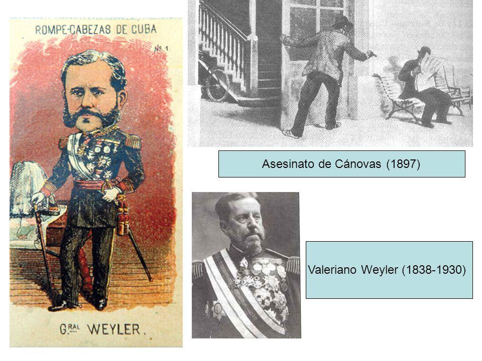 Asesinato de Cánovas (1897) Valeriano Weyler (1838-1930)