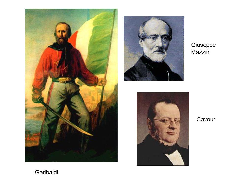 Giuseppe Mazzini Cavour Garibaldi