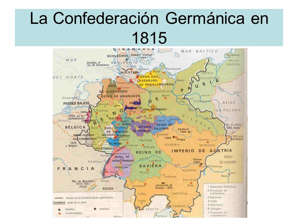La Confederación Germánica en 1815