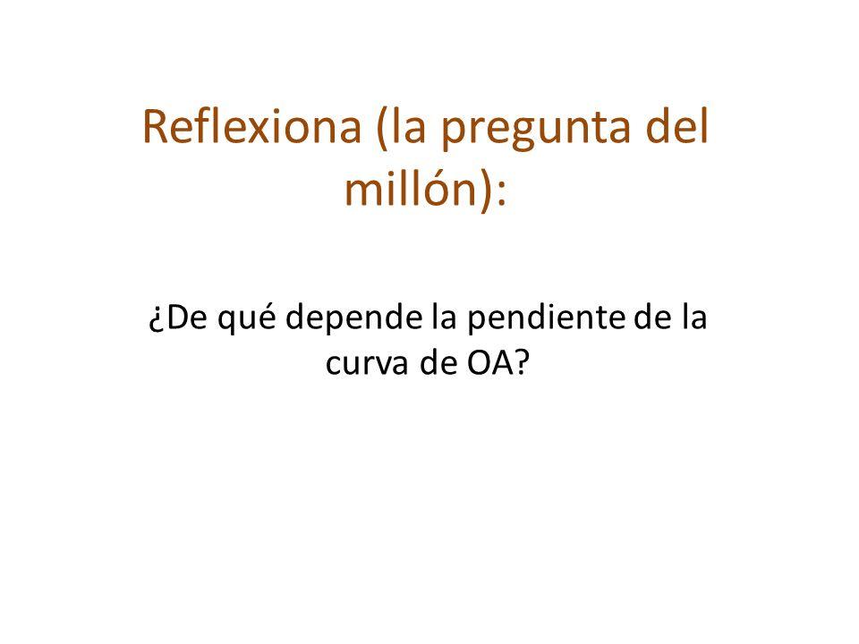 Reflexiona (la pregunta del millón): ¿De qué depende la pendiente de la curva de OA?