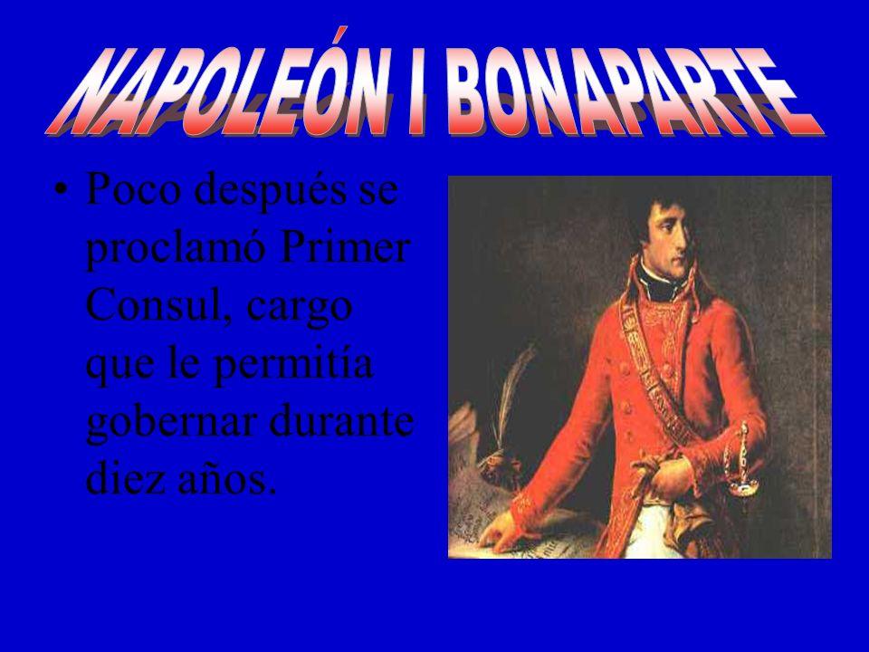 En 1804 se convirtió en Emperador y buscó tener el control de todo Europa.
