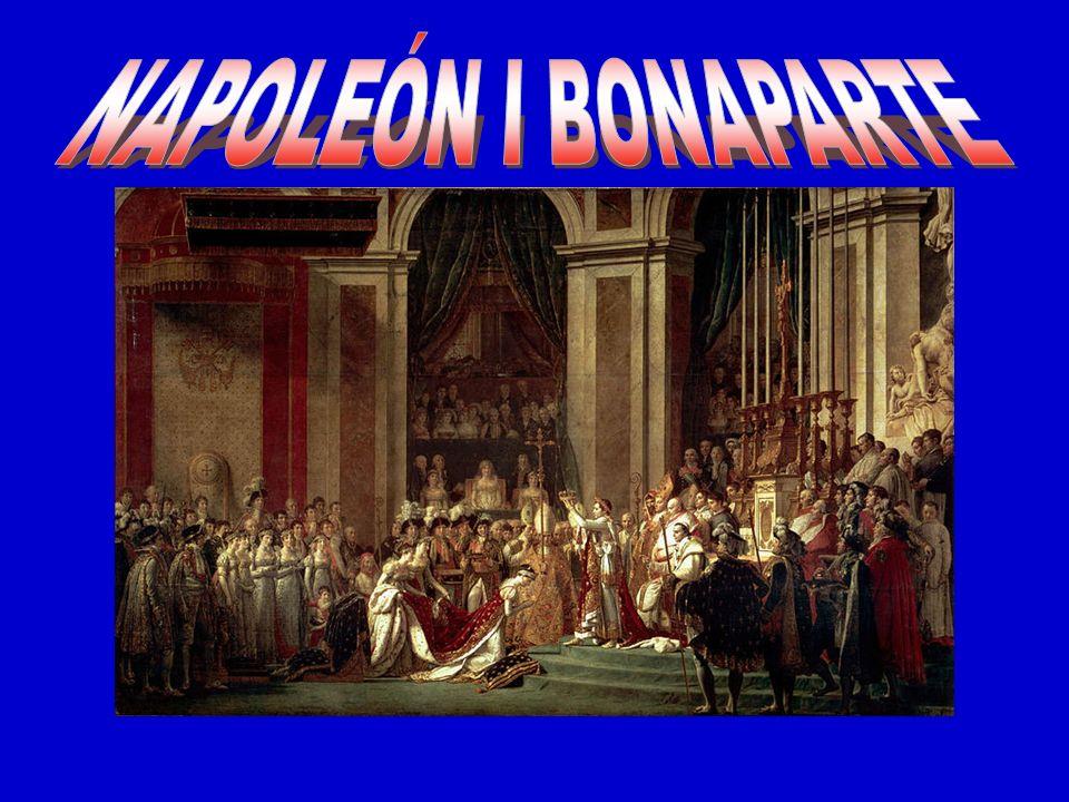 Fresco de Napoleón I Bonaparte en su trono Imperial, pintado por Jean Auguste Dominique Ingres en 1806.