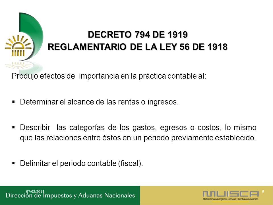 DECRETO LEGISLATIVO 2053 DE 1974 REORGANIZA EL IMPUESTO SOBRE LA RENTA Y COMPLEMENTARIOS Costo de activos movibles, inventario de mercancías, juego de inventarios.