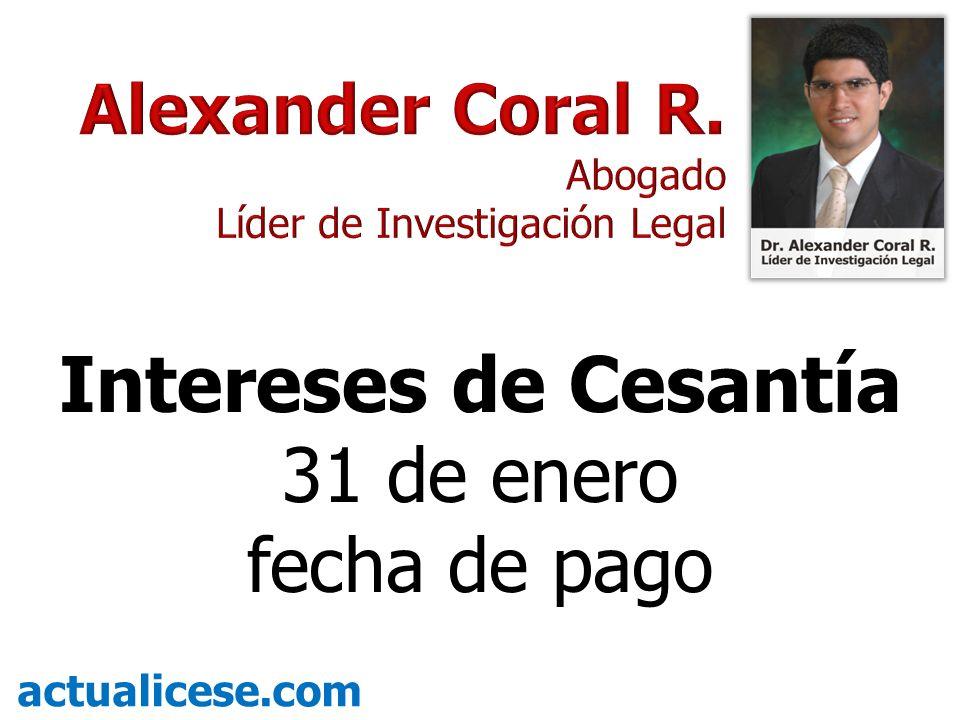 Intereses de Cesantía 31 de enero fecha de pago actualicese.com