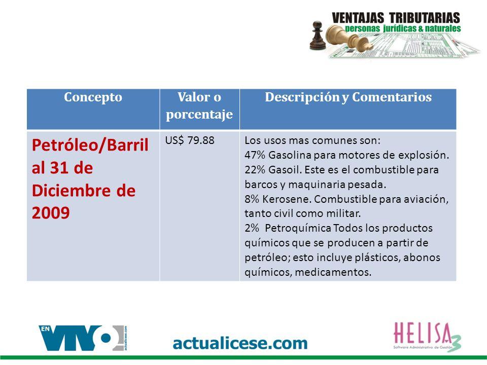 Concepto Valor o porcentaje Descripción y Comentarios Certificado Judicial Emitido por el DAS Antes del 2010 valor $ 20.500 a partir del 1º de Enero de 2010 $15.000