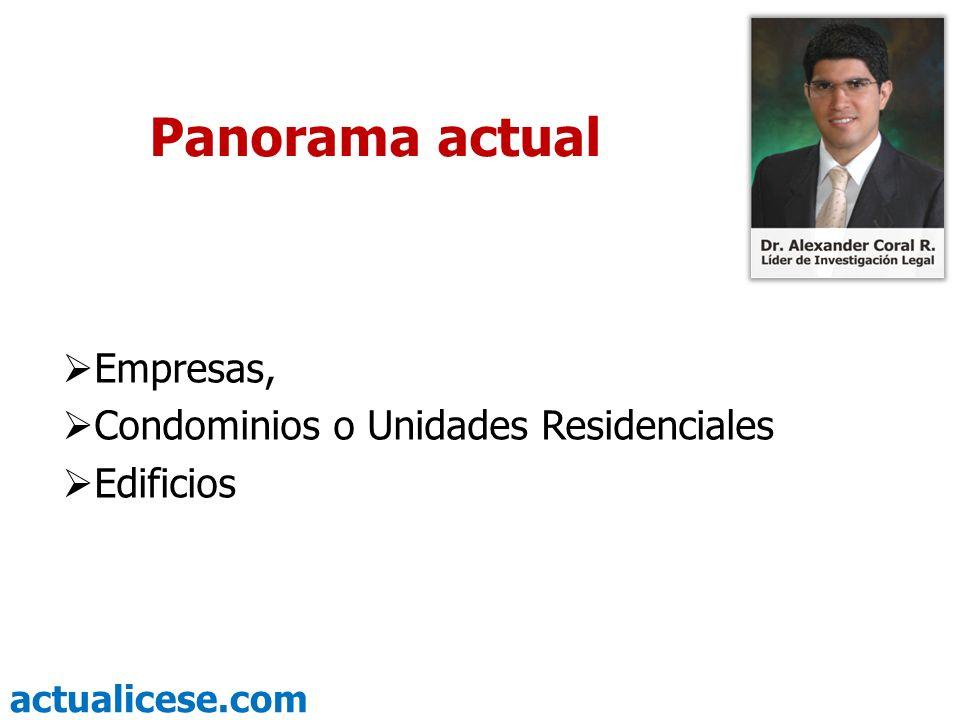actualicese.com Panorama actual Empresas, Condominios o Unidades Residenciales Edificios