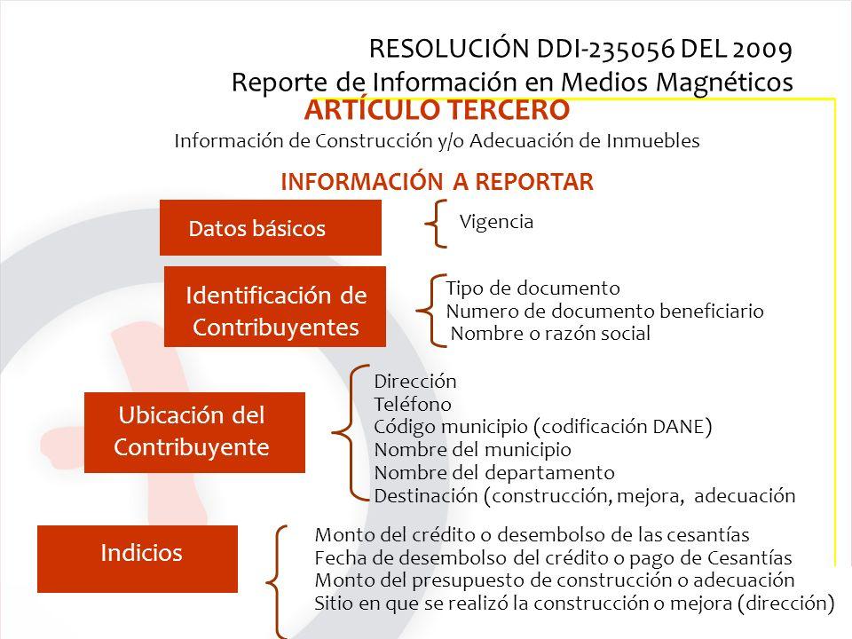 Tipo de documento Numero de documento beneficiario Nombre o razón social Dirección Teléfono Código municipio (codificación DANE) Nombre del municipio