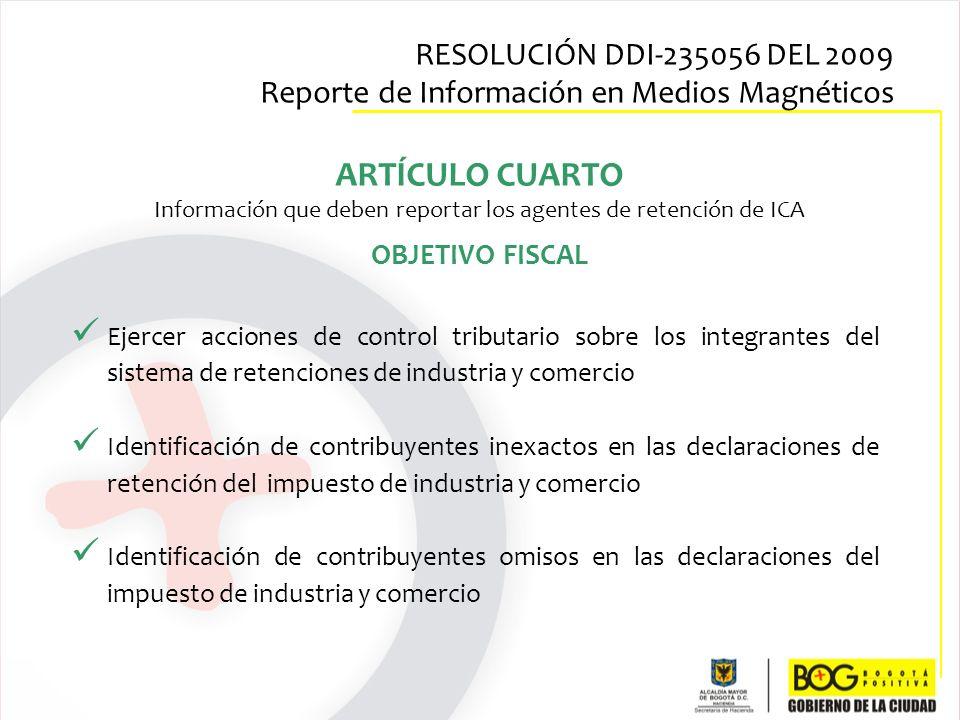 Ejercer acciones de control tributario sobre los integrantes del sistema de retenciones de industria y comercio Identificación de contribuyentes inexa
