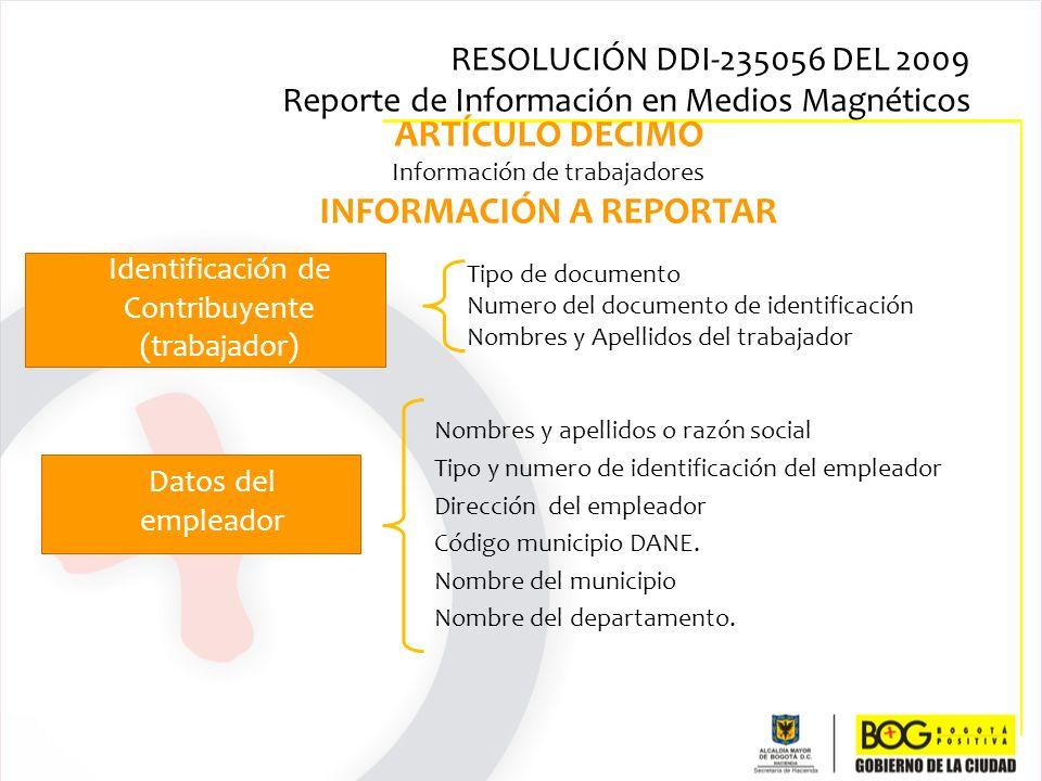 Tipo de documento Numero del documento de identificación Nombres y Apellidos del trabajador Nombres y apellidos o razón social Tipo y numero de identi