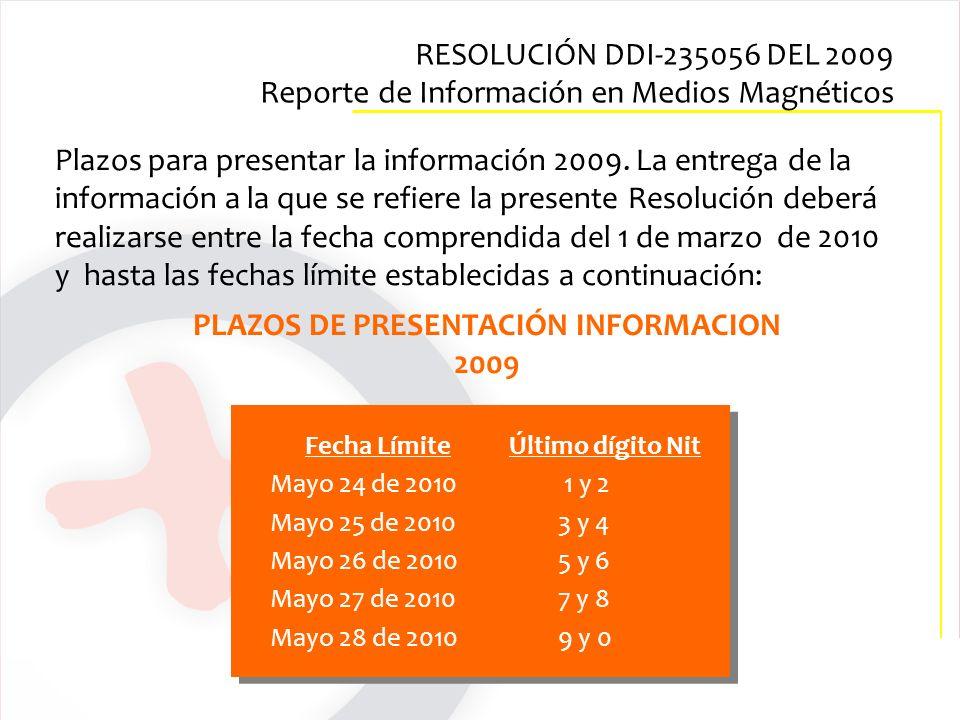 Fecha Límite Último dígito Nit Mayo 24 de 2010 1 y 2 Mayo 25 de 20103 y 4 Mayo 26 de 20105 y 6 Mayo 27 de 2010 7 y 8 Mayo 28 de 20109 y 0 PLAZOS DE PR