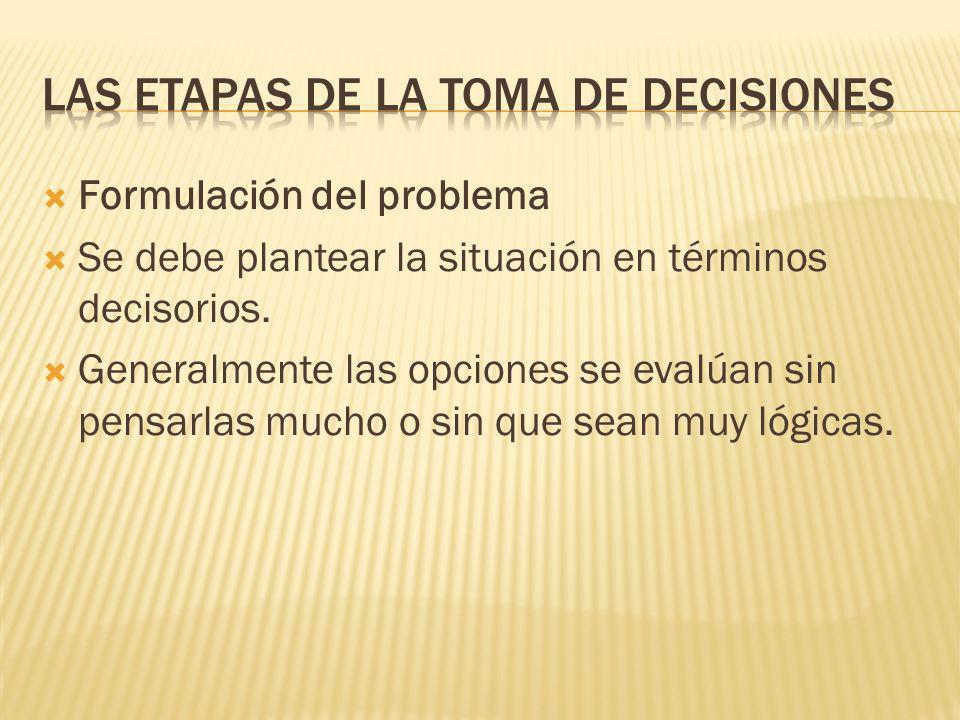 Quienes toman decisiones buscan soluciones fáciles: utilizan ideas que se han observado o intentado con anterioridad, o bien siguen el consejo de otro
