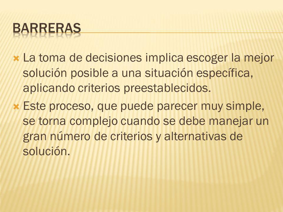 Complementar este enfoque analizando cuidadosamente ¿en qué consiste el modelo para optimizar la toma decisiones?