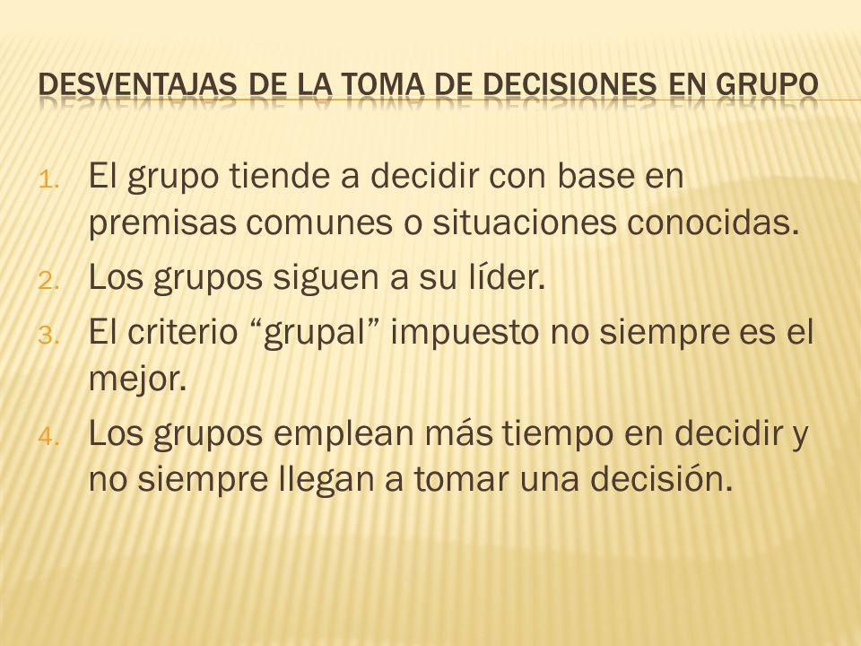 4. Se asumen mejor las consecuencias. 5. La información acerca de la decisión fluye mejor en todos los niveles de la empresa. 6. La estrategia de solu