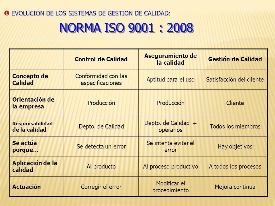 PAÍSES CON MAYOR NÚMERO DE CERTIFICADOS ISO 9001:2008 China GermanyUSA UKItaly Korea Spain Japan Australia France EVOLUCION DE LOS SISTEMAS DE GESTION