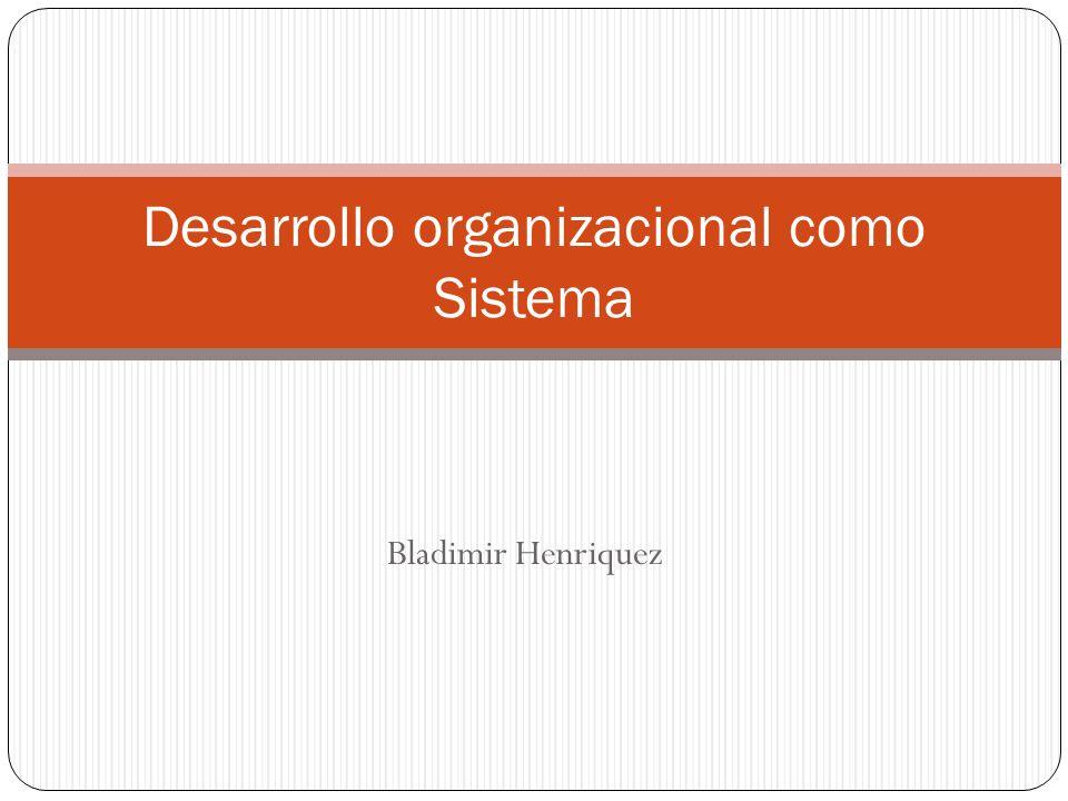 Bladimir Henriquez Desarrollo organizacional como Sistema