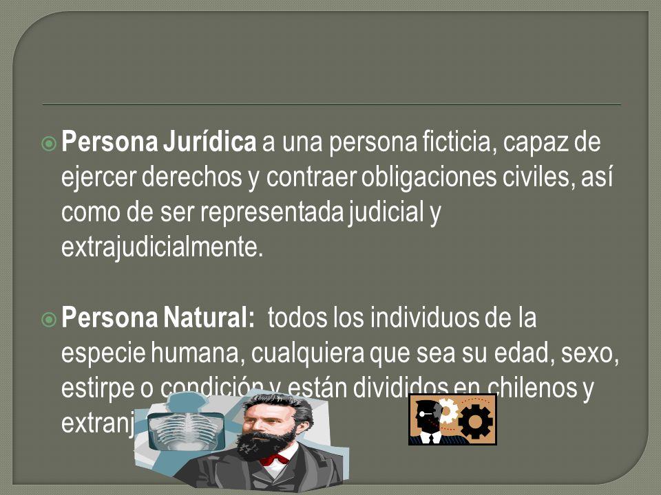 Persona Jurídica a una persona ficticia, capaz de ejercer derechos y contraer obligaciones civiles, así como de ser representada judicial y extrajudic