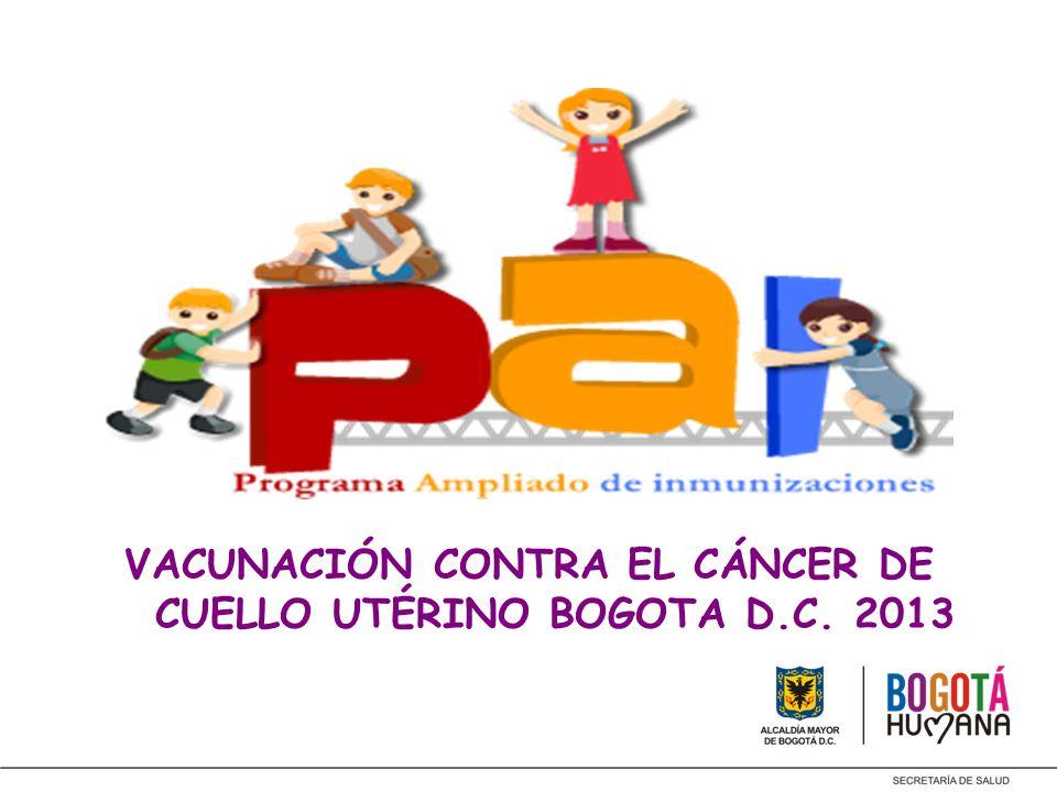 VACUNACIÓN CONTRA EL CÁNCER DE CUELLO UTÉRINO BOGOTA D.C. 2013
