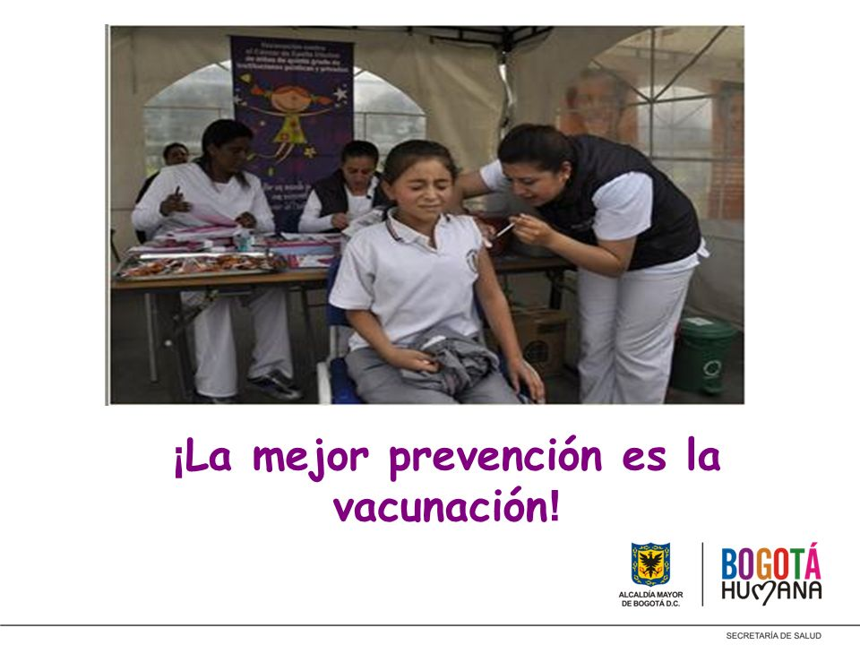 ¡ La mejor prevención es la vacunación !