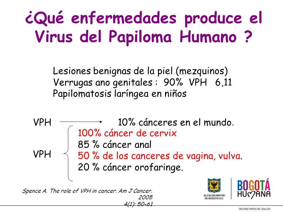 VPH 10% cánceres en el mundo. VPH 100% cáncer de cervix 85 % cáncer anal 50 % de los canceres de vagina, vulva. 20 % cáncer orofaringe. Spence A. The