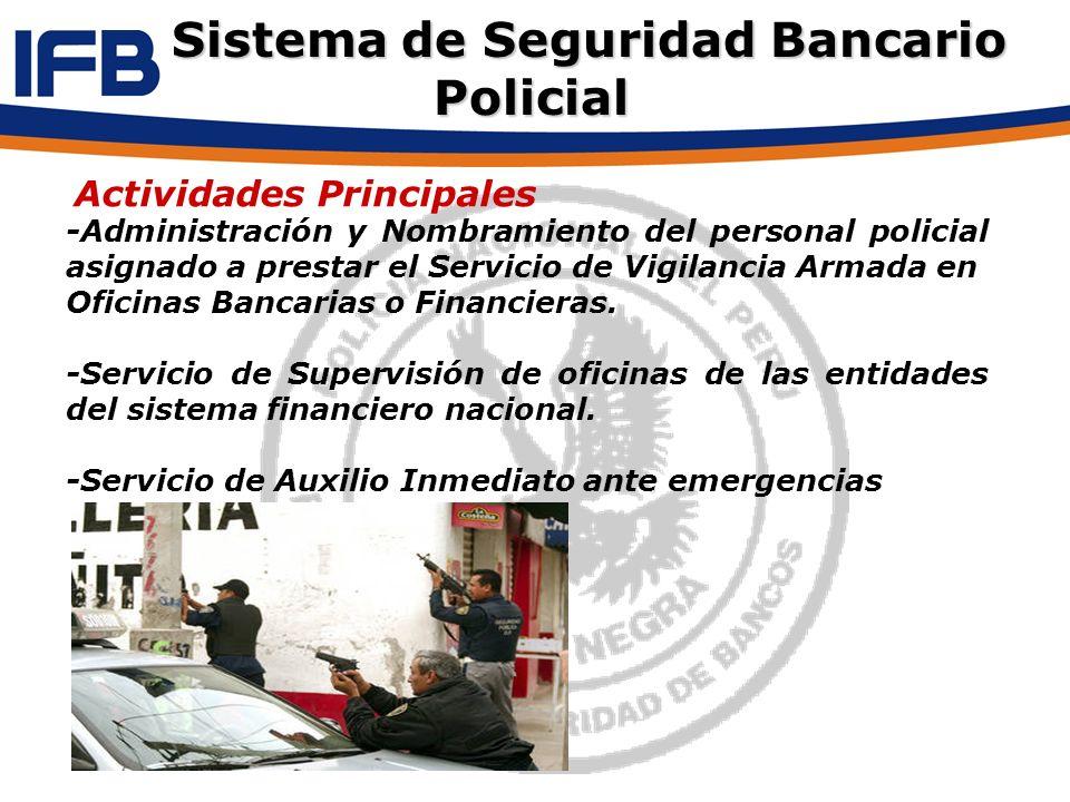 -Administración y Nombramiento del personal policial asignado a prestar el Servicio de Vigilancia Armada en Oficinas Bancarias o Financieras. -Servici