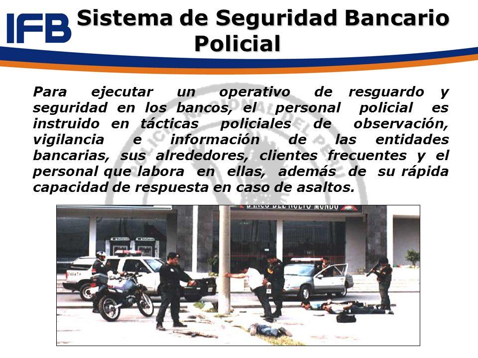 Para ejecutar un operativo de resguardo y seguridad en los bancos, el personal policial es instruido en tácticas policiales de observación, vigilancia