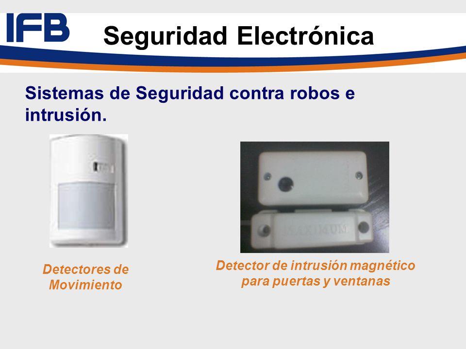 Detectores de Movimiento Detector de intrusión magnético para puertas y ventanas Seguridad Electrónica Sistemas de Seguridad contra robos e intrusión.
