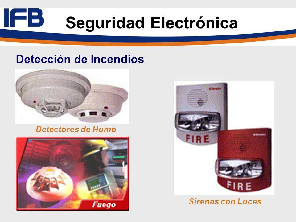 Detectores de Humo Sirenas con Luces Seguridad Electrónica Detección de Incendios