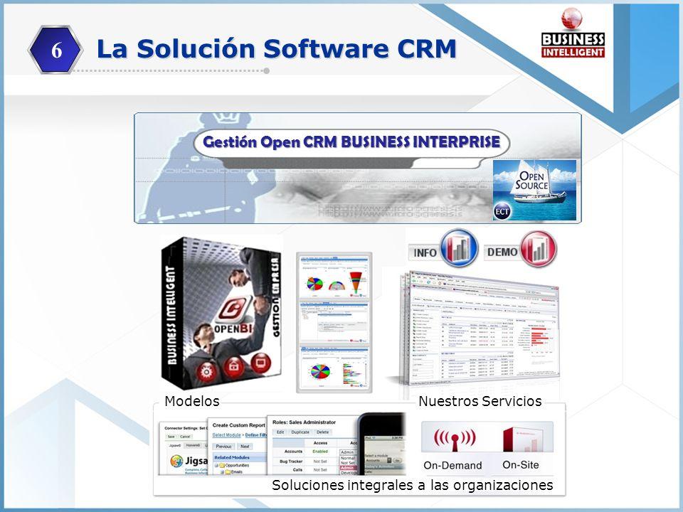 Es un Software de Gestión CRM de la información que integra, sistematiza, planifica, organiza y automatiza los procesos productivos, administrativos o comerciales de una organización pública o privada independientemente del tamaño o sector.