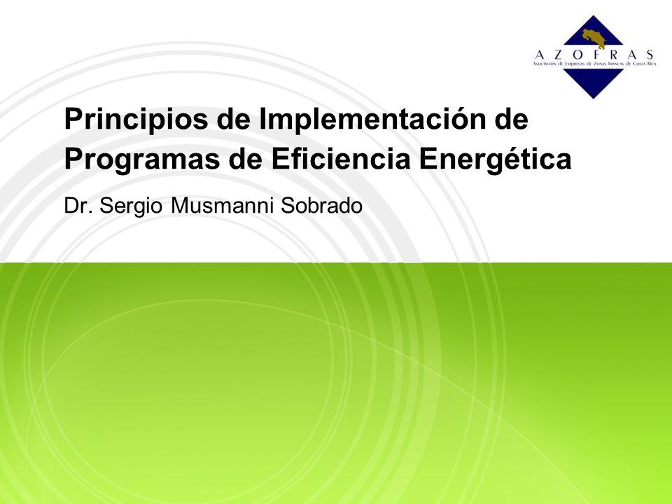 Principios de Implementación de Programas de Eficiencia Energética Dr. Sergio Musmanni Sobrado