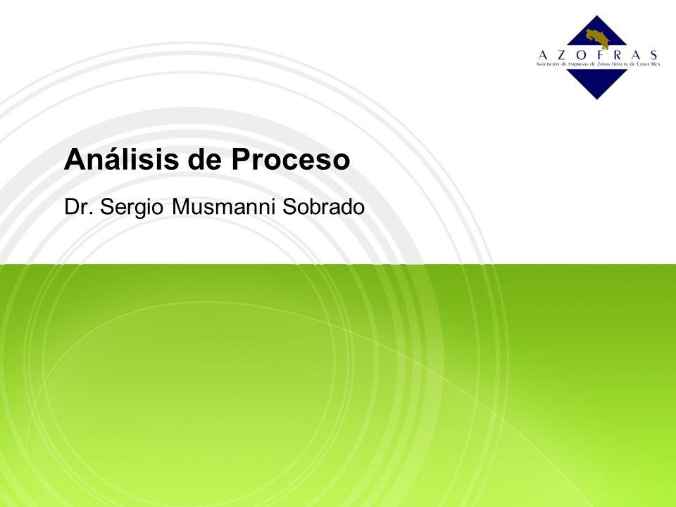 Análisis de Proceso Dr. Sergio Musmanni Sobrado