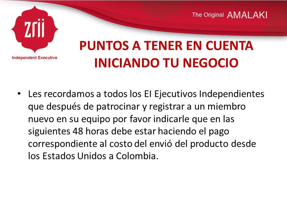 PUNTOS A TENER EN CUENTA INICIANDO TU NEGOCIO Hacer la consignación en Bancolombia.