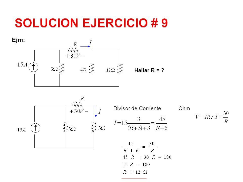 Ejm: Calcular la Potencia en la fuente controlada