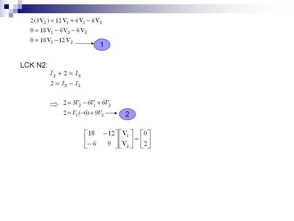 En forma Directa Una vez asignadas las corrientes a las mallas se plantean en cada una de las ecuaciones de voltaje de acuerdo a la siguiente regla: 1.- De un lado de la ecuación escribimos la suma algebraica de las fuentes de voltaje conectadas a la malla en que estamos trabajando respetando el signo de la fuente si la corriente de la malla atraviesa de negativo a positivo y cambiándole el signo si la atraviesa de positivo a negativo.