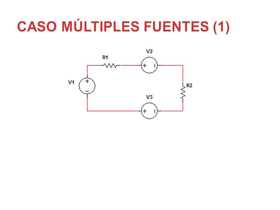 Figura 48 Las fuentes de voltaje pueden conectarse en serie sin importar la polaridad, pero estas deben ser reemplazadas por una sola fuente equivalen