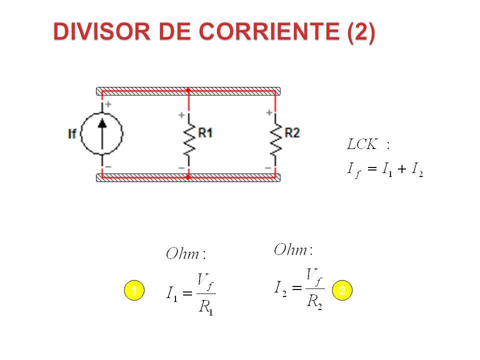 Resistencias en paralelo (R1 y R2 están en Paralelo respecto a cada fuente) 12 Figura 50 VfVf