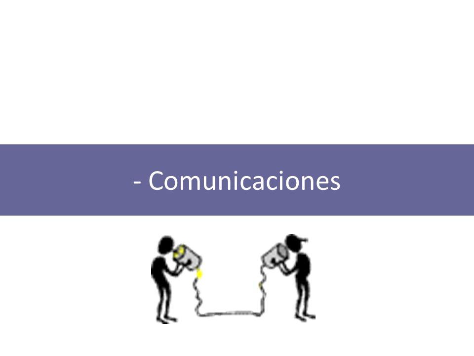Comunicaciones Comunicación: proceso de transmisión y recepción de ideas, información y mensajes Transmisión: envío de señales desde un lugar a otro a través de un medio apto de desplazamiento.